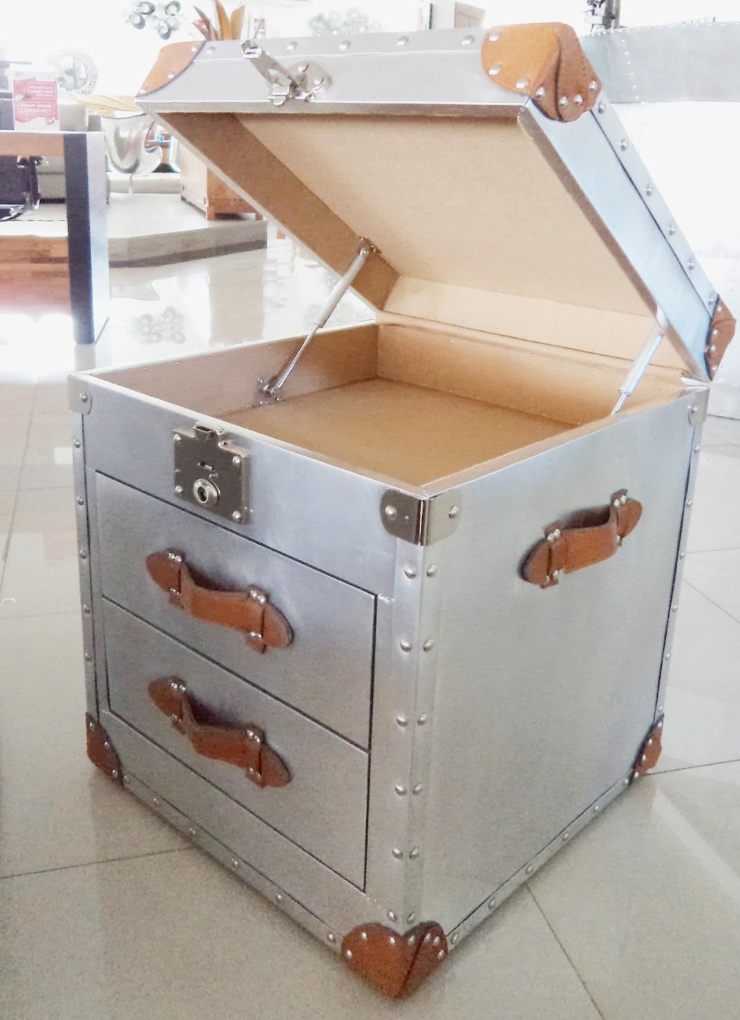 Aviator night stand 2 drawers